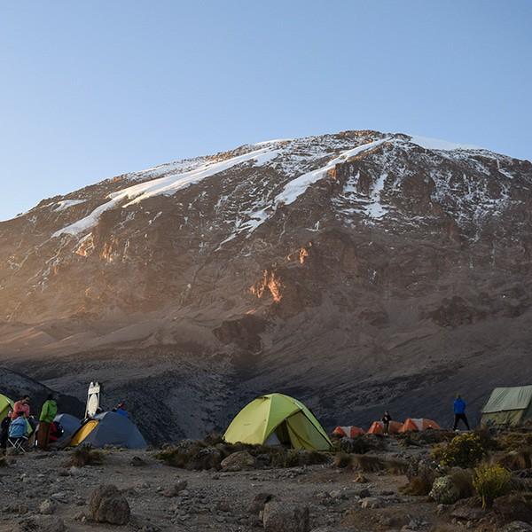 mt kilimanjaro from karanga camp