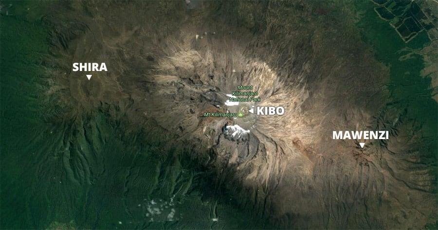 kilimanjaro volcanoes